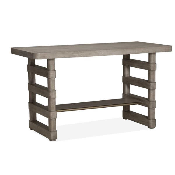 Freitas Wood Rectangular Counter Pub Table by Gracie Oaks