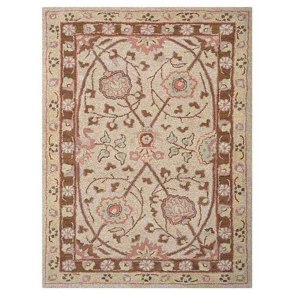 Creamer Vintage Hand-Tufted Wool Cream Area Rug by Darby Home Co