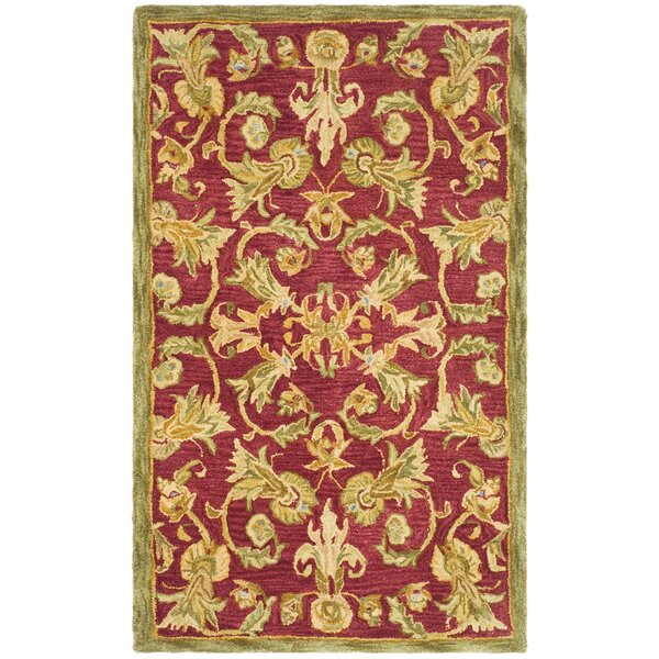 Anatolia Burgundy/Sage Area Rug by Safavieh