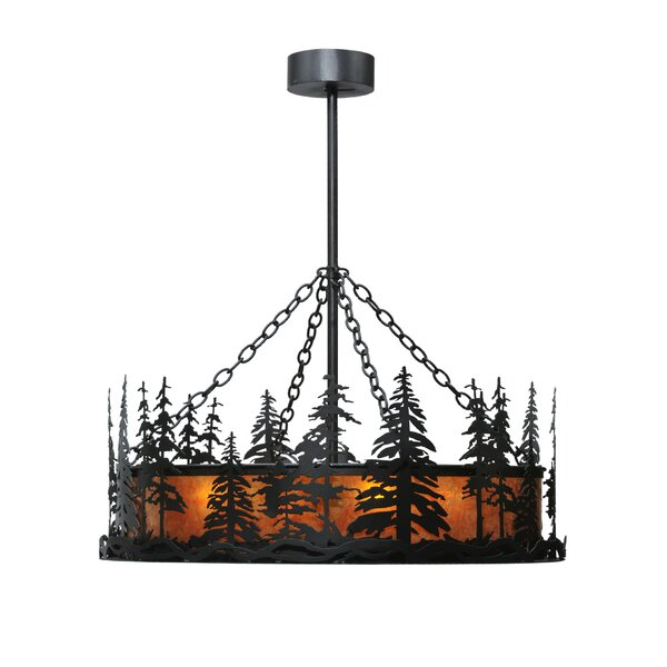 Tall Pine 4-Light Drum Chandelier by Meyda Tiffany