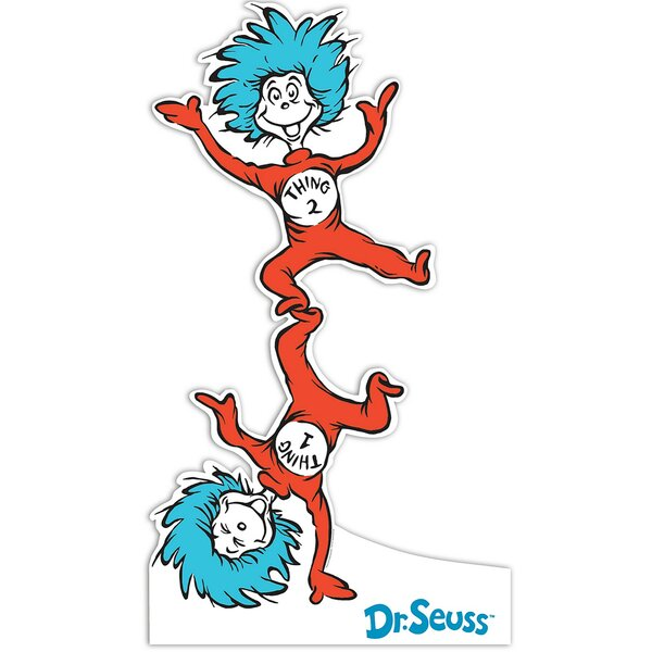 Dr. Seuss Thing 1 and Thing 2 Standup by NA
