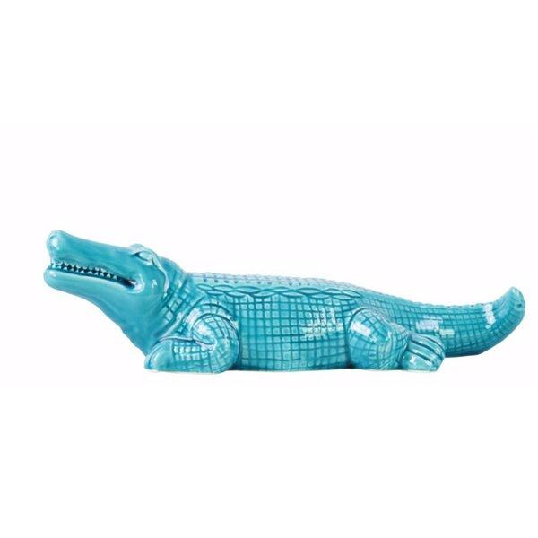 Sterner Crocodile Gloss Figurine by Bay Isle Home