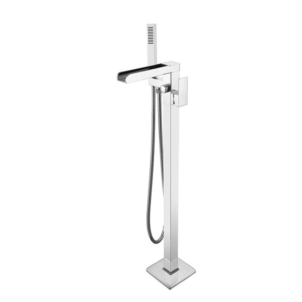 Roslyn Single Handle Floor Mounted Freestanding Tub Filler By Transolid