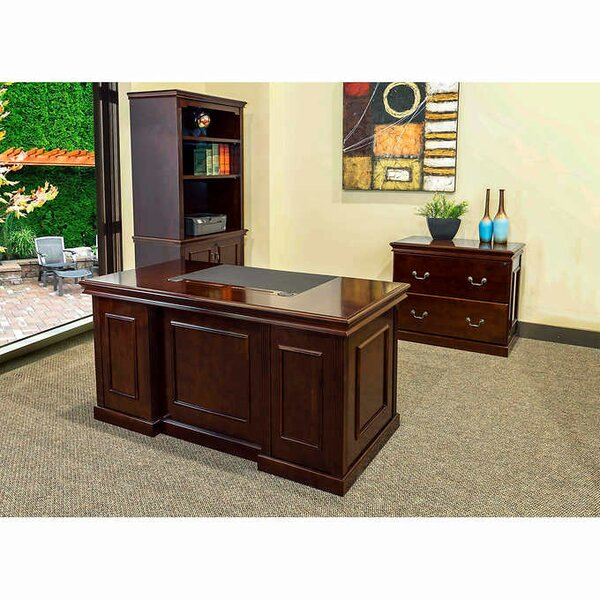 Combo Desk, Bookcase and Filing Cabinet Set