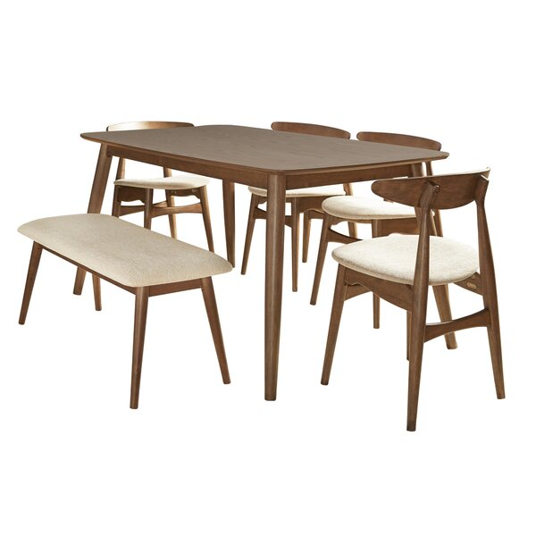 Buffum 6 Piece Counter Height Solid Wood Dining Set by George Oliver