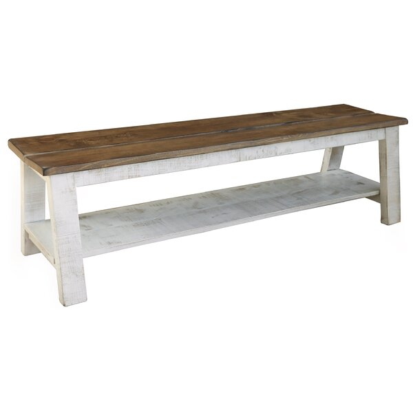 Coralie Breakfast Wood Storage Bench by Gracie Oaks
