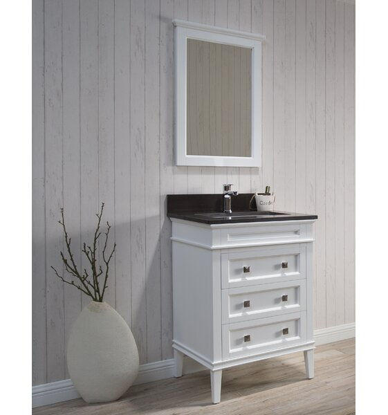 Briese 25 Single Bathroom Vanity Set with Mirror by Wrought StudioBriese 25 Single Bathroom Vanity Set with Mirror by Wrought Studio