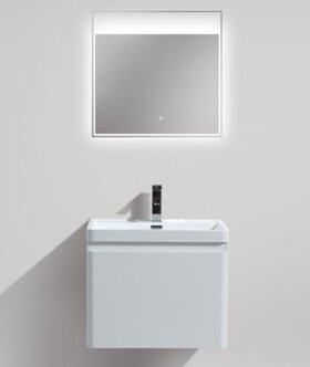 Burchette 24 Wall-Mounted Single Bathroom Vanity Set by Wrought Studio