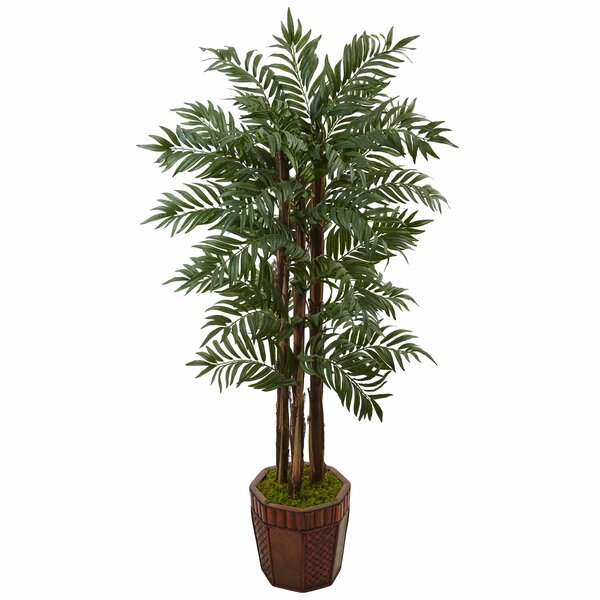 Artificial Parlour Floor Palm Tree in Planter by Bloomsbury Market