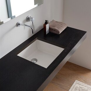 Miky Ceramic Square Undermount Bathroom Sink