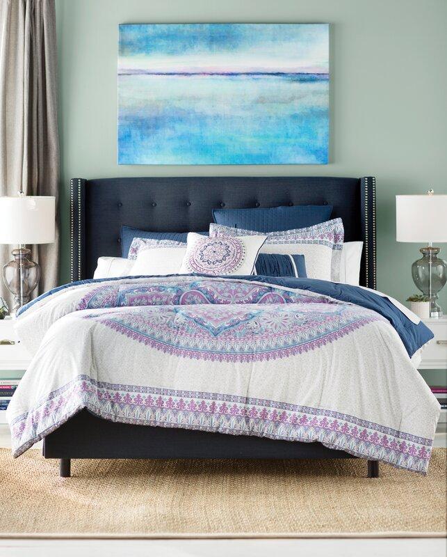 bungalow rose saravia 7 piece cotton comforter set & reviews | wayfair