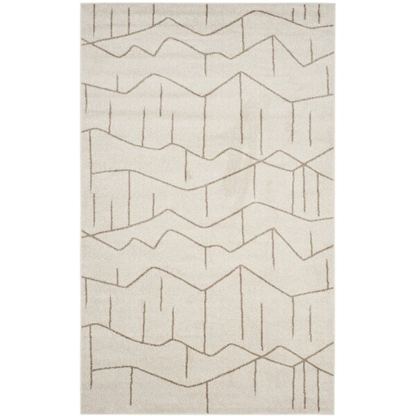 Dunclug Ivory/Grey Area Rug by Langley Street