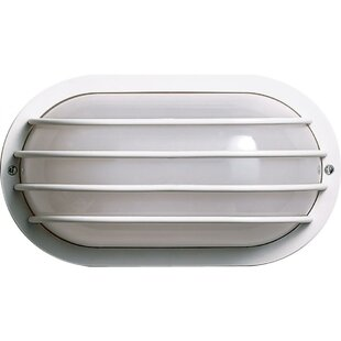 Best Reviews Tesch 1-Light Outdoor Bulkhead Light By Latitude Run
