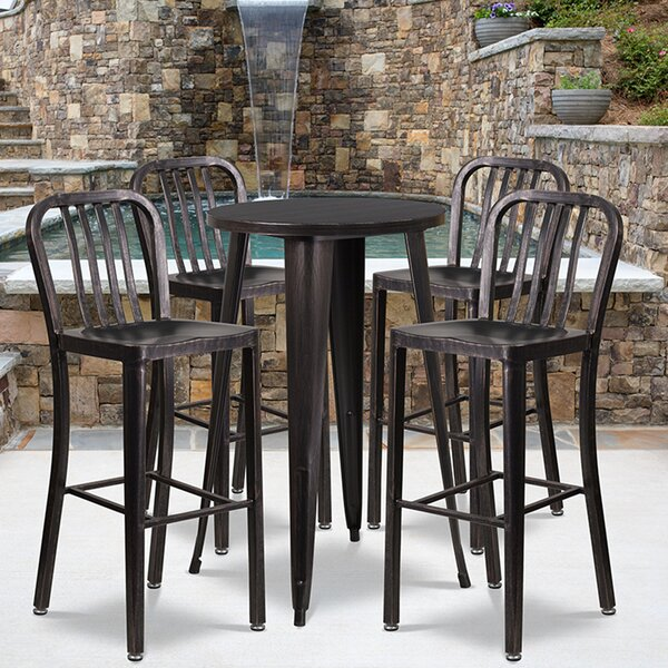 Khaleesi 5 Piece Bar Height Dining Set by Williston Forge