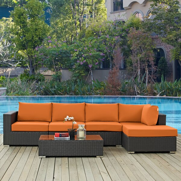 Tripp 5 Piece Sunbrella Sectional Seating Group with Cushions by Brayden Studio