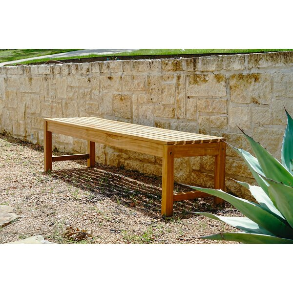 Catalina Outdoor Backless Teak Garden Bench by Hives and Honey