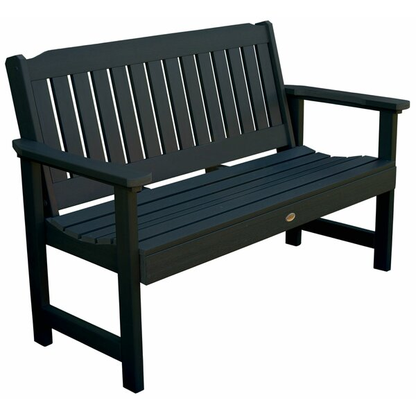 Amelia Wood Garden Bench by Three Posts