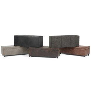 Agnon Faux Leather Storage Bench