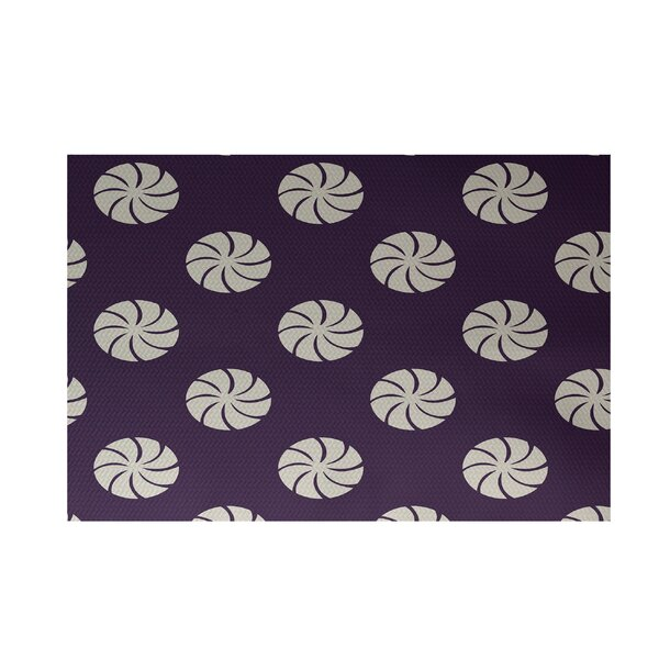 Decorative Holiday Geometric Print Purple Indoor/Outdoor Area Rug by The Holiday Aisle
