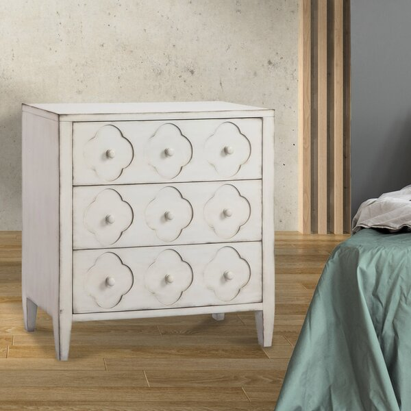 Amaya 3 Drawer Nightstand by One Allium Way