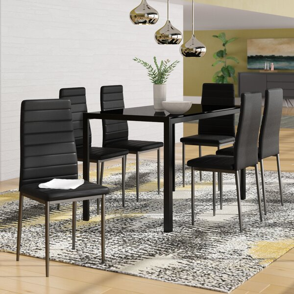 Haris 6 Piece Breakfast Nook Dining Set by Ebern Designs