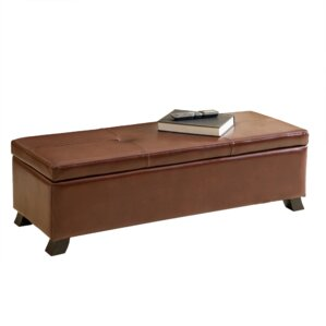 Tarrison Leather Storage Bench by Home Loft Concepts