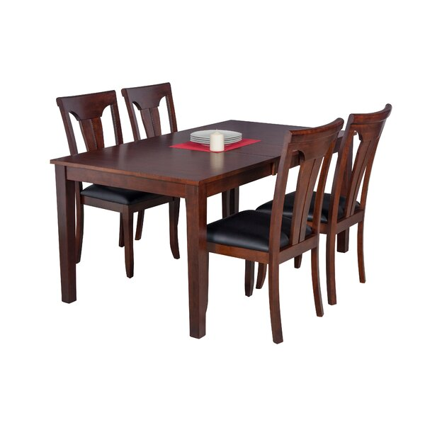 Downieville-Lawson-Dumont 5 Piece Solid Wood Dining Set By Loon Peak 2019 Sale