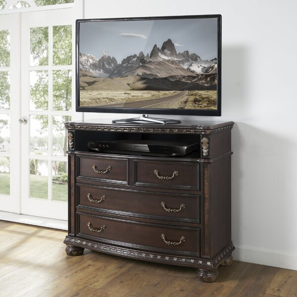 Pinehur 4 Drawer Media Chest by Astoria Grand