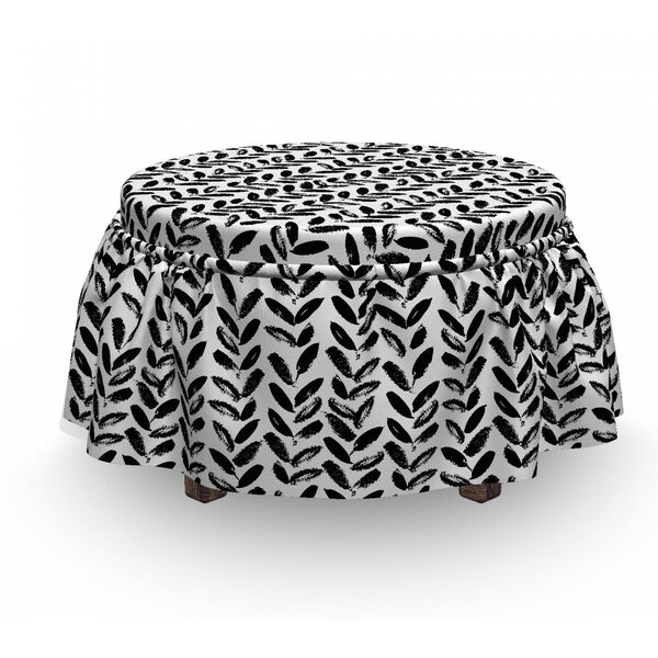 Discount Paint Motif Ottoman Slipcover (Set Of 2)