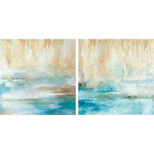 'Through the Mist' 2 Piece Painting Print on Canvas Set by Trent Austin Design