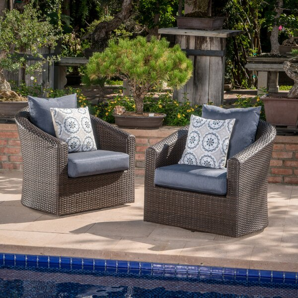 Dierdre Swivel Patio Chair With Cushions (Set Of 2) By Red Barrel Studio by Red Barrel Studio #1