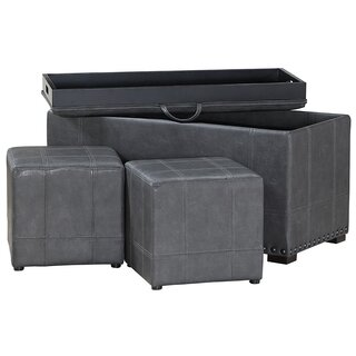3 Piece Brann Storage Ottoman Set by Canora Grey SKU:AD942969 Buy