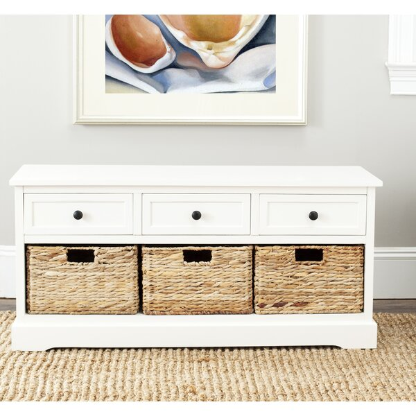 Brondesbury Solid Wood Cabinet Storage Bench by Rosecliff Heights Rosecliff Heights