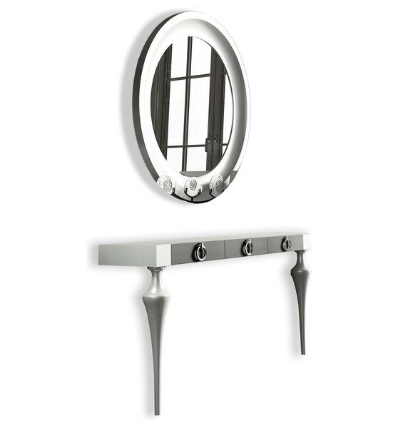 Koski Console Table and Mirror Set by Everly Quinn Everly Quinn