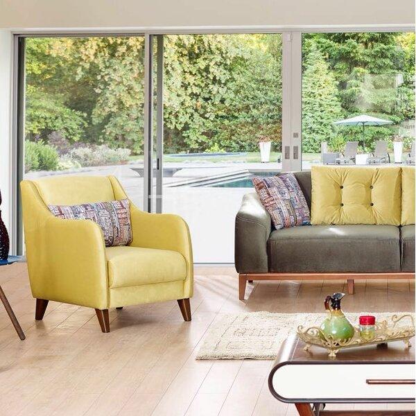 Danos Modern Velvet Wingback Chair by Brayden Studio