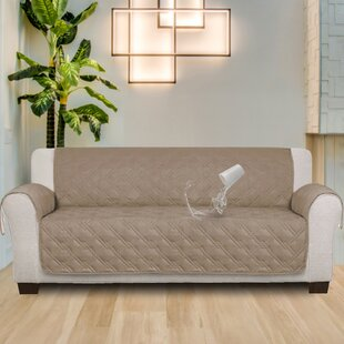 100 % Waterproof Non-Skip Box Cushion Sofa Slipcover