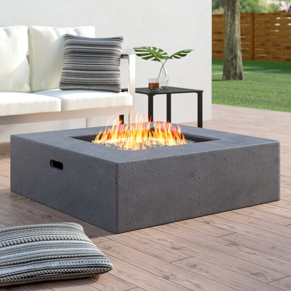 Olivet Propane Fire Pit Table by Wade Logan
