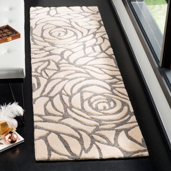 Roberta Hand-Woven Ivory Area Rug by House of Hampton