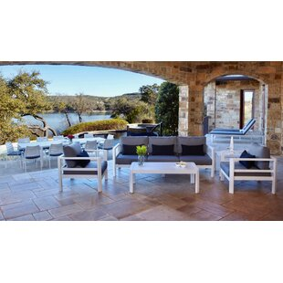 Bemelle 5 Piece Sunbrella Seating Group with Cushions By Ebern Designs