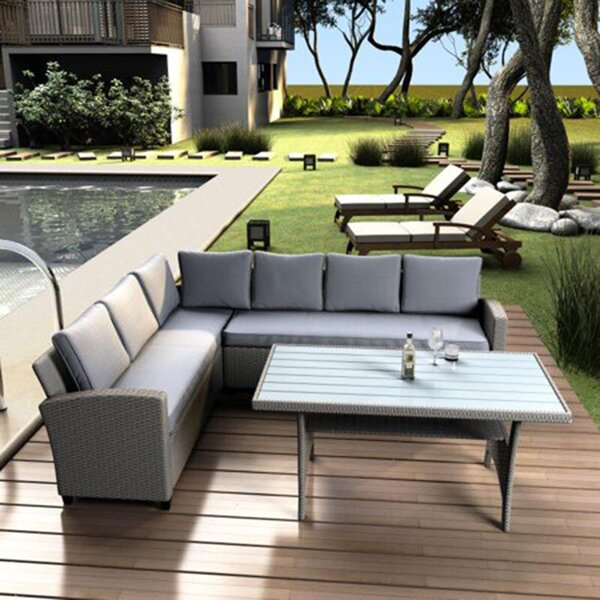 Mast Patio 2 Piece Rattan Sofa Seating Group with Cushions by Latitude Run