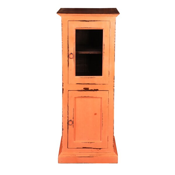 Julianne Glass 1 Door Accent Cabinet By August Grove