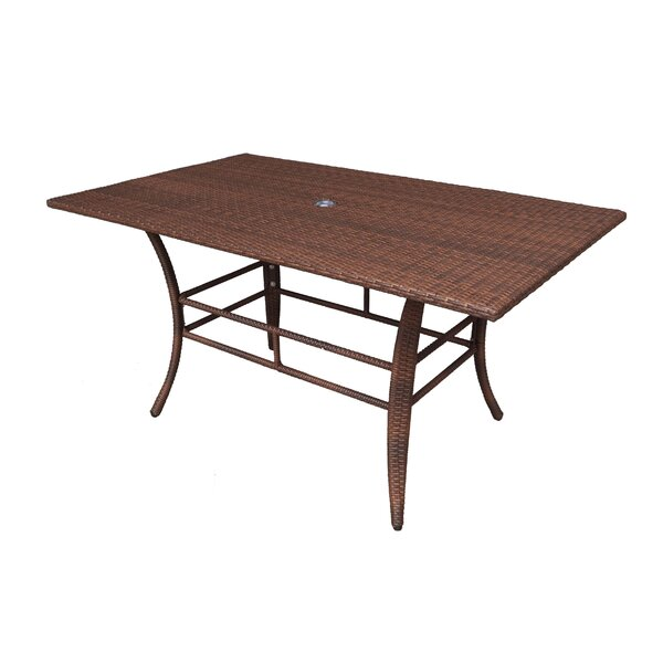 Key Biscayne Wicker/Rattan Dining Table By Panama Jack Outdoor
