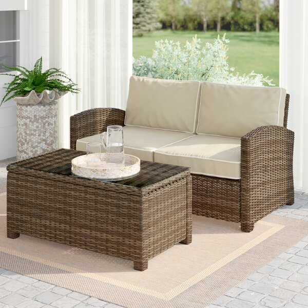 Lawson 2 Piece Rattan Sofa Seating Group with Cushions by Birch Lane™ Heritage