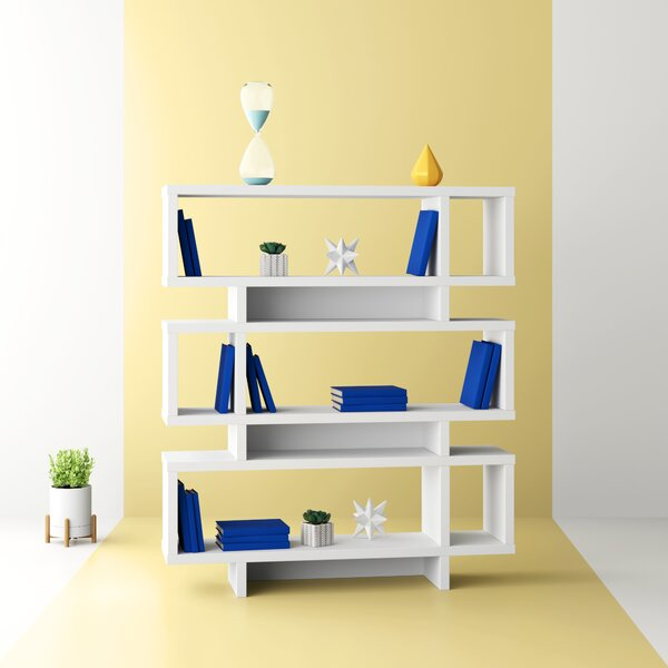 Aleksandra Geometric Bookcase By Hashtag Home