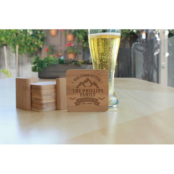 Square Bamboo 7 Piece Coaster Set by Winston Porter