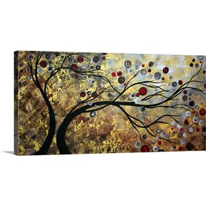 'Floating on the Wind' by Megan Duncanson Painting Print on Wrapped Canvas by Great Big Canvas