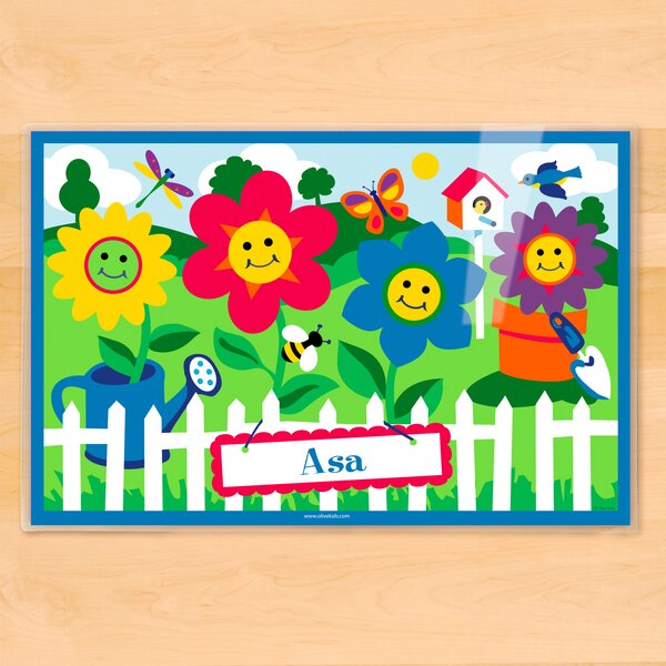 Happy Flowers Personalized Placemat by Olive Kids