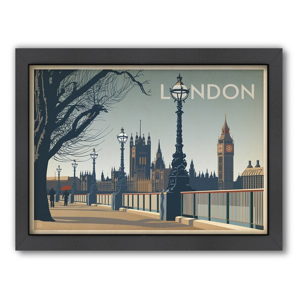 London Framed Vintage Advertisement by East Urban Home