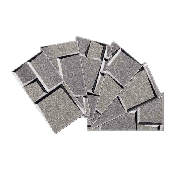 Crystal Skin 3 x 6 Glass Subway Tile in Gray by SkinnyTile