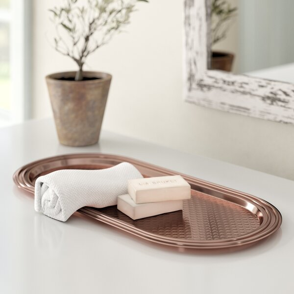 Hammered Copper Bathroom Accessory Tray by Birch Lane™